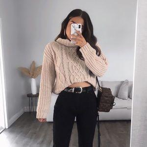 Waffle Knit Chunky Sweater
